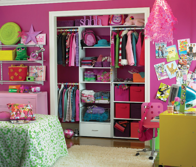 Tidy Tween Room eclectic kids