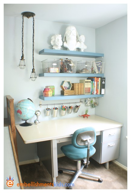 Laboratory Room Design: Boys Science And Geek Chic Bedroom
