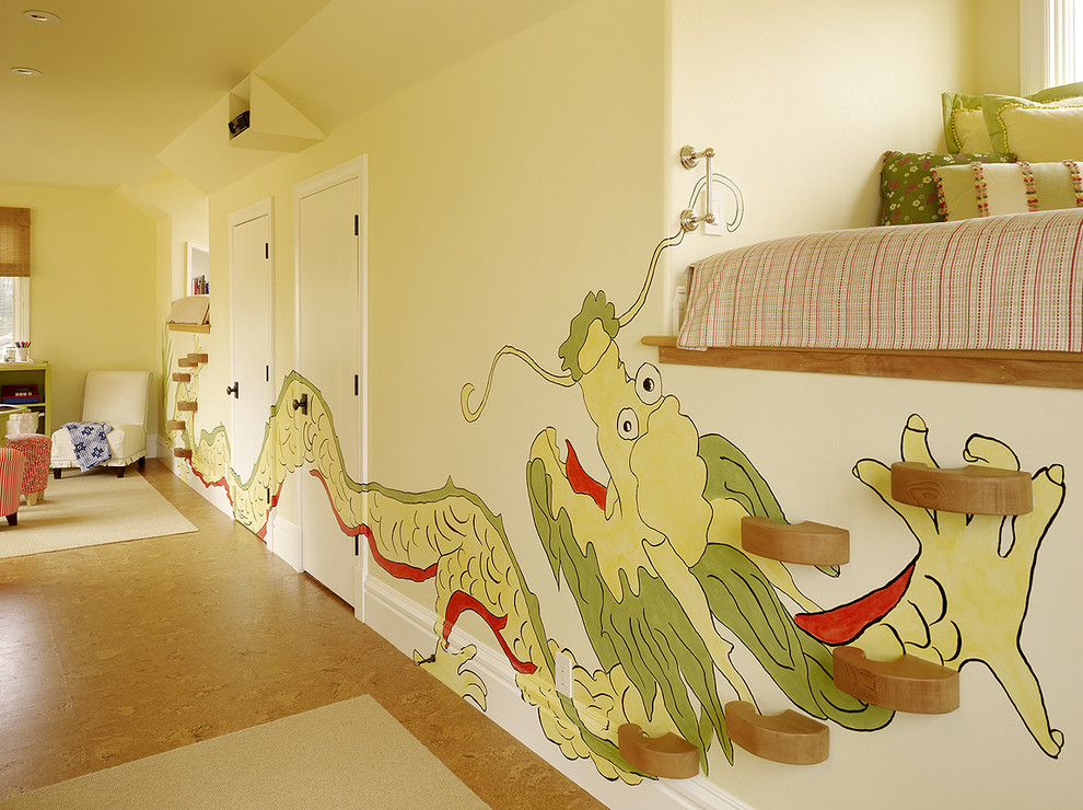 Inspiration for an eclectic girl kids' room remodel in San Francisco