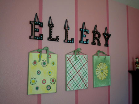 Ellerys Roses and Stripes Room traditional kids
