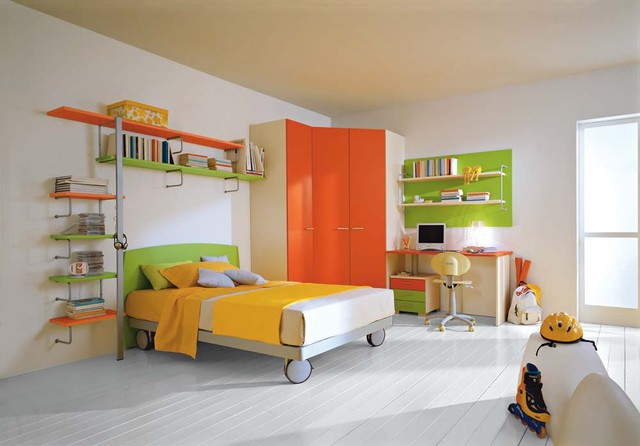 Kids rooms decor ideas: using colors