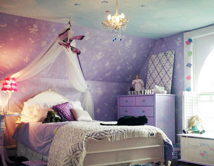 Faux Painted Butterfly Little Girls Room in NJ - Traditional ...
