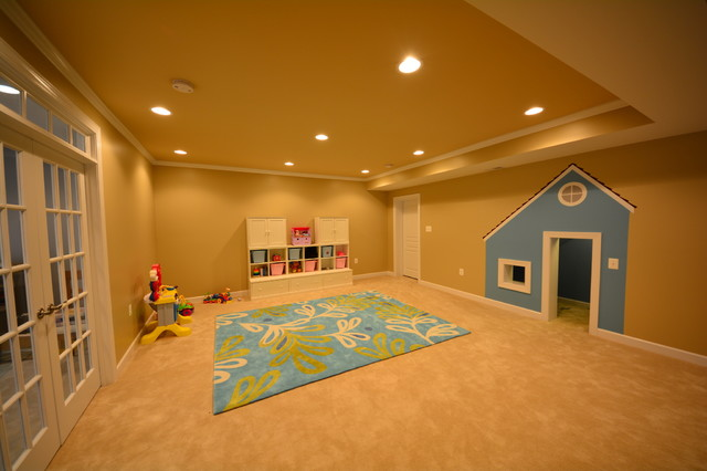 Finished Basement Ellicott City 2 MD Contemporary Kids Other By Bas