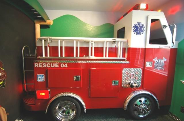 firetruck bed eclectic kids sacramento rh houzz co uk
