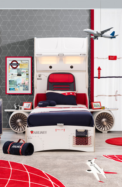 First Class Airplane Kids Bedroom Modern Kids