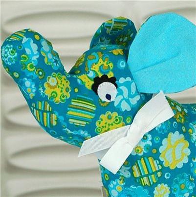 Fischer Originals Stuffed Plush | Blue Elephant eclectic-kids