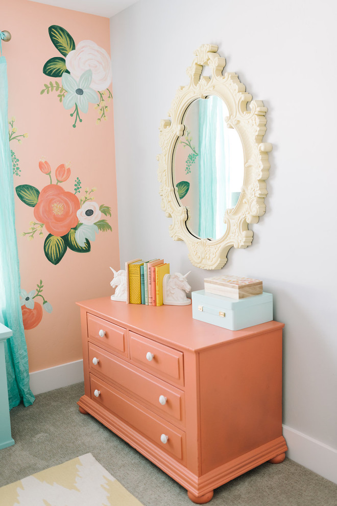 Example of a cottage chic girl kids' room design in Salt Lake City