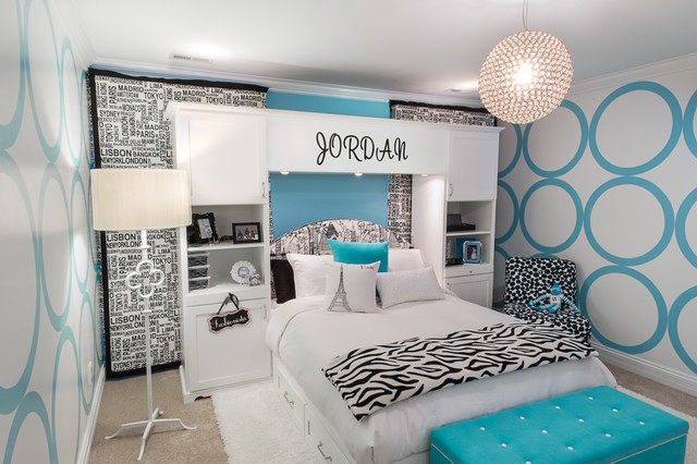 terrific cute 10 year old girl bedroom ideas | For a 10 year old girl who loves to travel - Contemporary ...