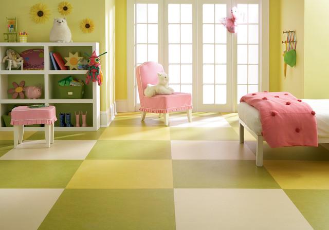 forbo marmoleum click natural linoleum flooring moderne chambre d 39 enfant chicago par. Black Bedroom Furniture Sets. Home Design Ideas