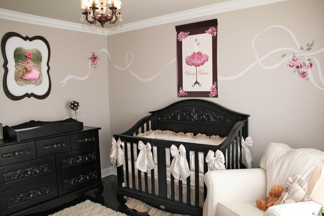 French Parisian Girl's Nursery, Philadelphia Baby Designer Decorator traditional-kids