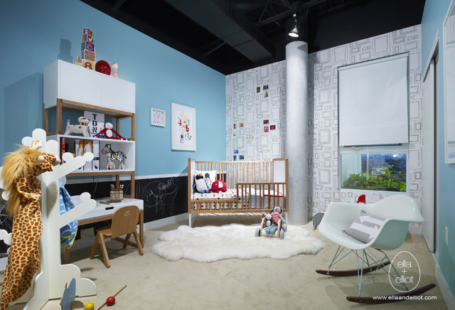 fun modern nursery to toddler room modern kids
