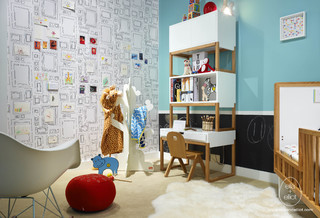 Fun, Modern Nursery-to-Toddler Room modern-kids