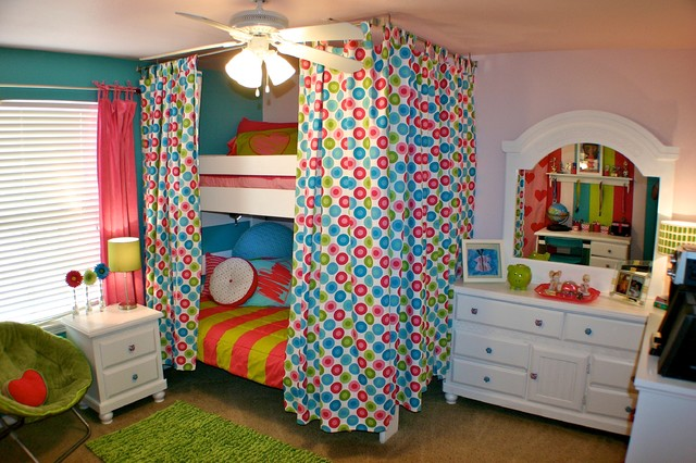 Funky Girls Bedroom eclectic kids