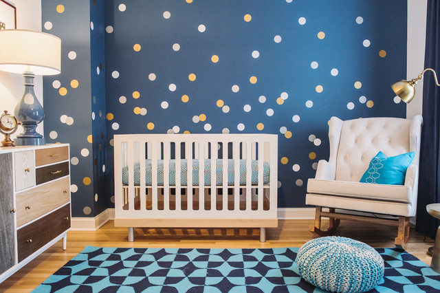 Galaxy Gazer Nursery Transitional Kids Chicago By