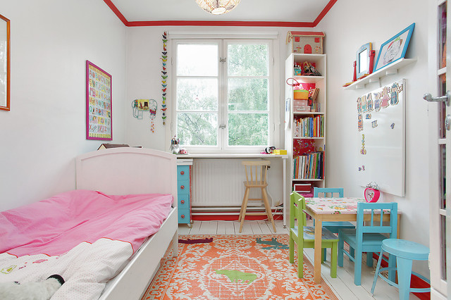 Girl bed room eclectic kids