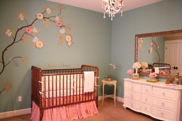 girl nursery idea shabby chic. Black Bedroom Furniture Sets. Home Design Ideas