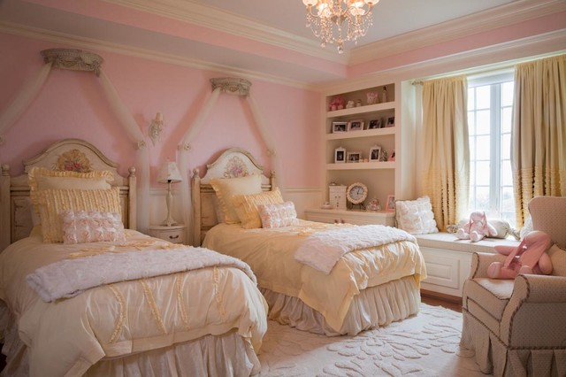 Girl Pink Princess Room Traditional Kids Boston By