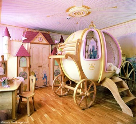Girl's $48,000 Carriage Bed1 contemporary-kids