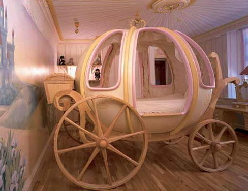 Girl's $48,000 Carriage Bed2 contemporary-kids