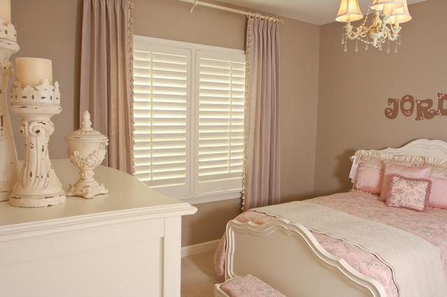 Girl's Bedroom Shutters traditional-kids