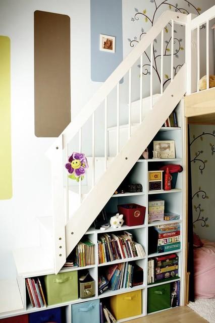 Girl's loft contemporary-kids