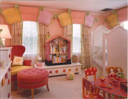 Girls Pink Room eclectic kids