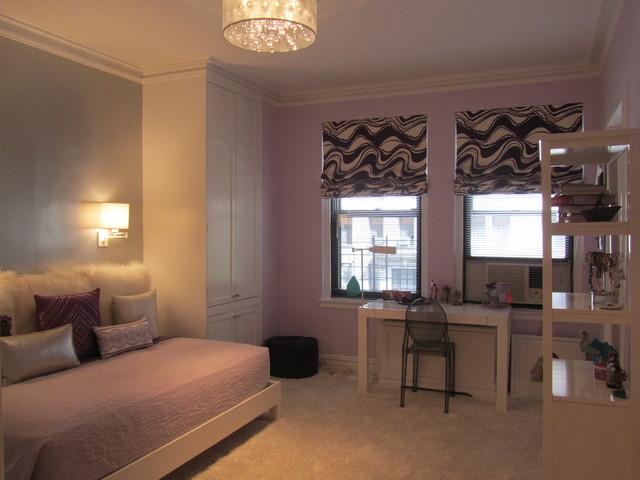 Girl 39 S Purple Silver Bedroom