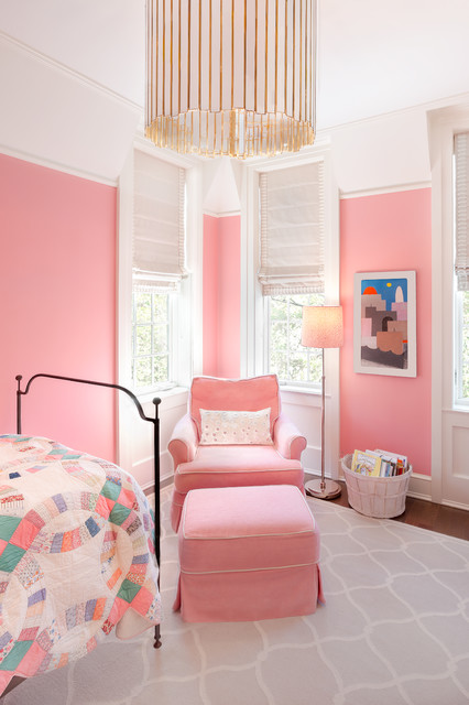 Girl 39 s room transitional kids chicago by kathleen for Rooms 4 kids chicago