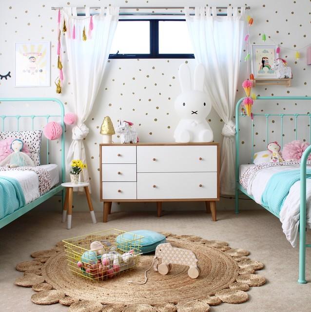 Girl 39 S Shared Bedroom Scandinavian Kids Perth By Four Cheeky Monkeys