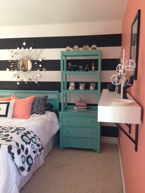 Coral black and teal bedroom the image for Black and teal bedroom designs
