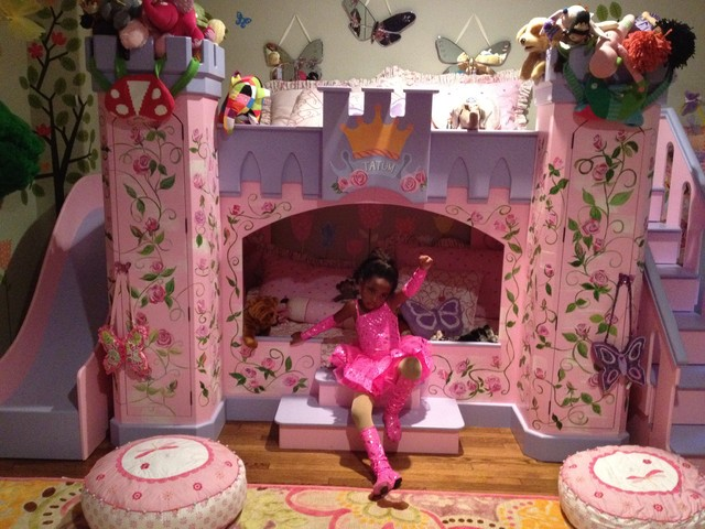 Girls fairytale theme bedroom eclectic kids new york by - New york girls room ...