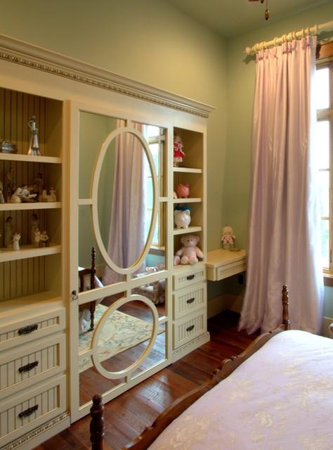 Girls Room Hidden Closet Farmhouse Kids Houston By
