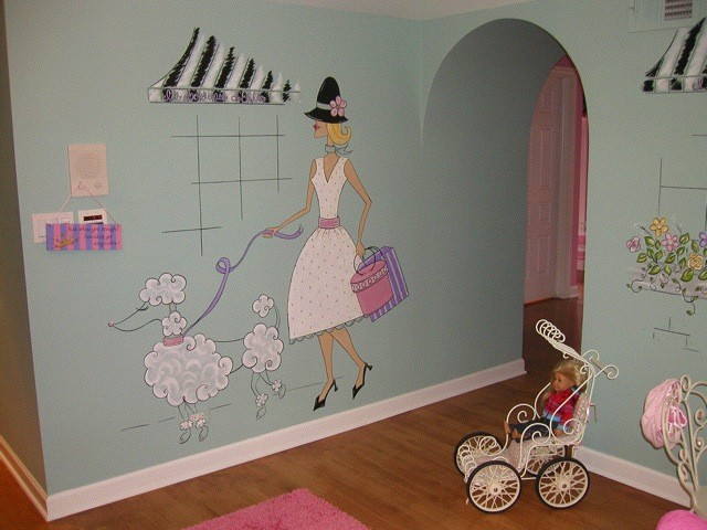 Glamorous Girls Play Area In Paris Theme Traditional
