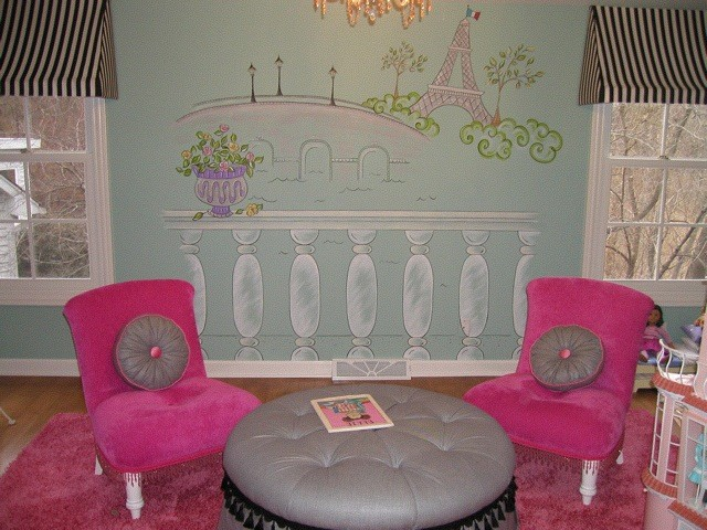 Glamorous Girls Play Area in Paris theme traditional-kids