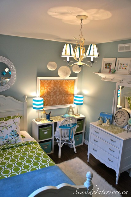 Going Blue and Green- Girls Room eclectic kids