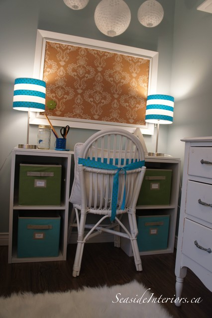 Going Blue and Green- Girls Room eclectic-kids