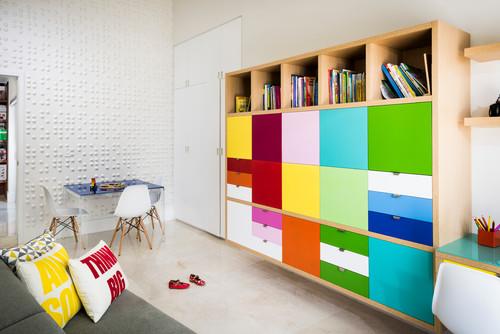 Modern Built-in storage in playroom in Atlanta GA