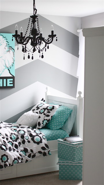 Gray And Turquoise Bedroom. Gray and Turquoise Teen Bedroom contemporary kids  Contemporary Kids Detroit