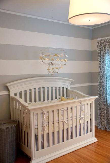 Gray and yellow baby girl nursery - Gray and yellow baby room ...