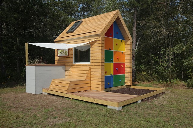 Green Playhouse contemporary-kids