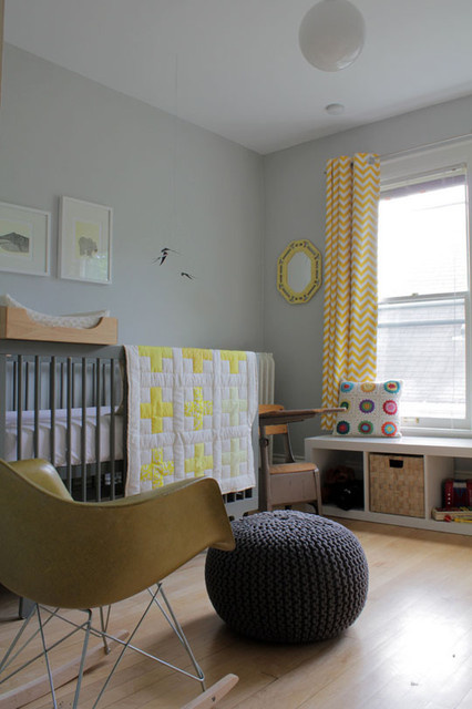 Gus's Modern Nursery on a Budget contemporary-kids