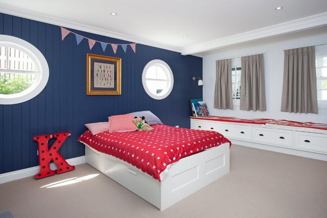 hampton style interior design maritim kinderzimmer brisbane von baahouse baastudio pty ltd. Black Bedroom Furniture Sets. Home Design Ideas