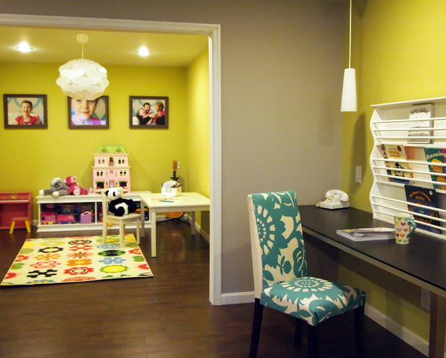 happy bold kids basement playroom contemporary kids philadelphia