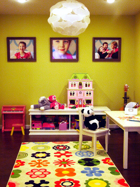 Happy Bold Kids Basement Playroom contemporary-kids