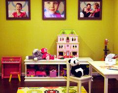 Happy Bold Kids Basement Playroom contemporary-kids