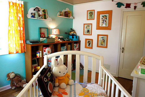 happy, colorful room for a young child eclectic-kids