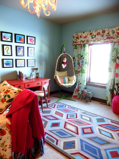 Happy Glamorous Girls Bedroom eclectic kids