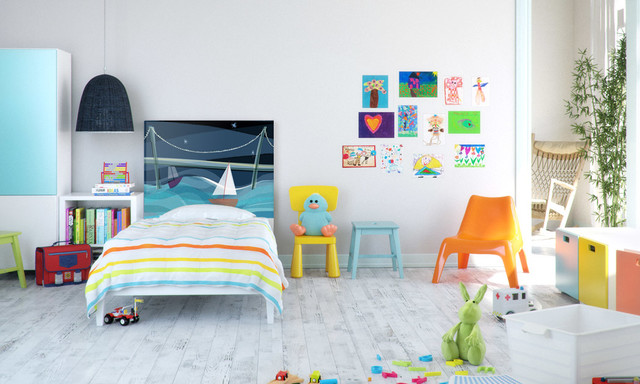 Headboard for kids bedroom contemporary-kids