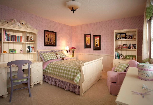Heatherwood Girls Bedroom traditional-kids