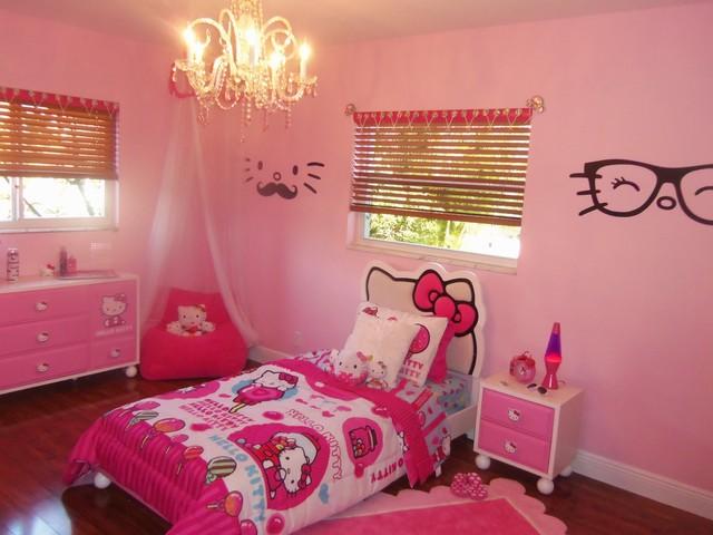 kids bedroom for girls hello kitty. Hello Kitty Girl\u0027s Bedroom Eclectic-kids Kids For Girls O